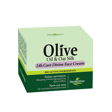 24hr Divine HerbOlive Face Cream with Olive Oil & Oat Silk 50ml, Face Cream, HerbOlive - OnlyMySkin.com