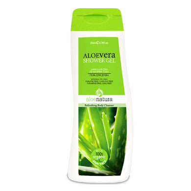 AloeNatura Body Shower Gel with Aloe Vera 6.76 oz., Shower Gel, OnlyMySkin.com - OnlyMySkin.com