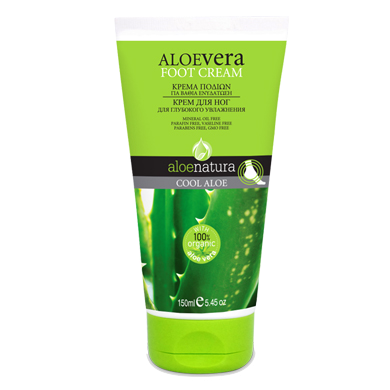 AloeNatura Foot Cream, Cool Aloe with Aloe Vera 150ml/5.07 fl oz., Foot Cream, OnlyMySkin.com - OnlyMySkin.com