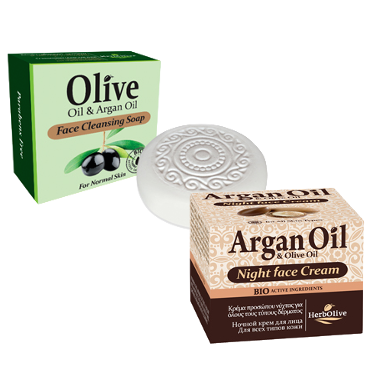 Special-Argan Oil & Olive Oil Face Cream Night and Argan Oil & Olive Oil Face Cleansing Soap, Special Sales!, OnlyMySkin.com - OnlyMySkin.com