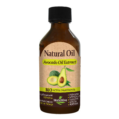 Natural Avocado Oil Extract 100ml by HerbOlive (free shipping), 100% Natural Oil - free shipping, HerbOlive - OnlyMySkin.com