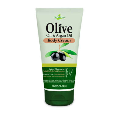 HerbOlive Body Cream with Olive Oil & Argan Oil 5.45 oz, Body cream, OnlyMySkin.com - OnlyMySkin.com