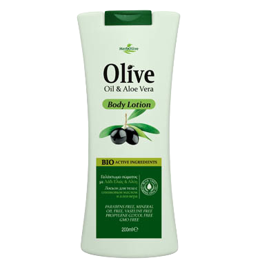HerbOlive Body Lotion with Olive Oil & Aloe Vera 200ml/6.76 oz., Body Lotion, OnlyMySkin.com - OnlyMySkin.com