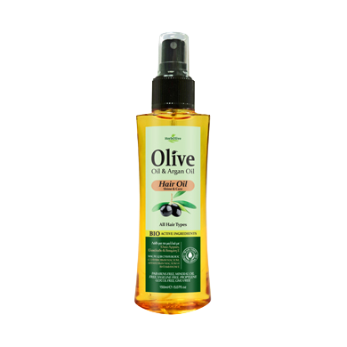 HerbOlive Hair Oil with Olive Oil & Argan Oil, for All Hair Types 150ml, Hair Care, OnlyMySkin.com - OnlyMySkin.com