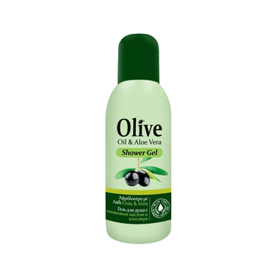 HerbOlive Mini Shower Gel with Olive Oil & Aloe Vera 60ml, Shower Gel, OnlyMySkin.com - OnlyMySkin.com