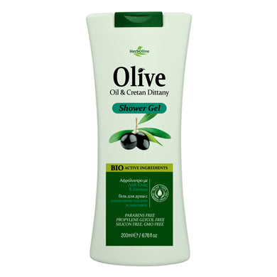 HerbOlive Body Shower Gel with Olive Oil & Cretan Dittany 200ml, Shower Gel, HerbOlive - OnlyMySkin.com