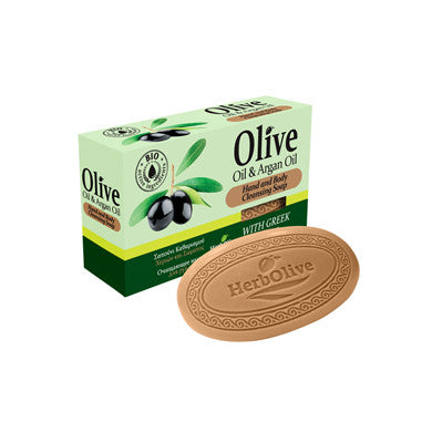 HerbOlive Bridge Soap with Olive Oil & Argan Oil 3.17 oz, Soap, OnlyMySkin.com - OnlyMySkin.com