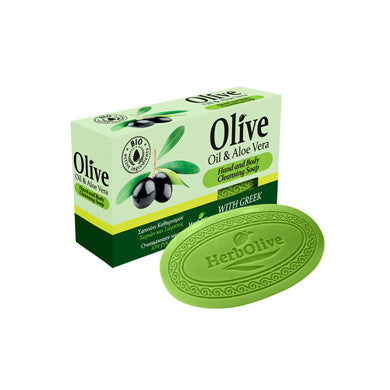 HerbOlive Bridge Soap with Olive Oil & Aloe Vera 3.17 oz., Soap, OnlyMySkin.com - OnlyMySkin.com