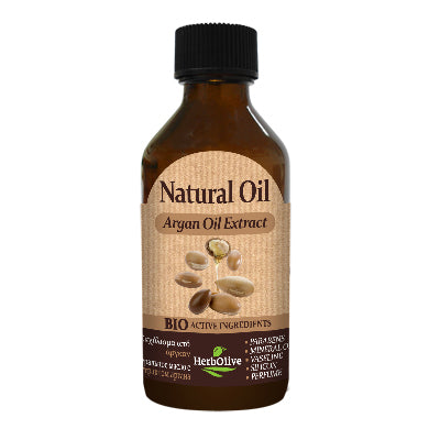 Natural Argan Oil Extract 100ml by HerbOlive (free shipping), 100% Natural Oil - free shipping, HerbOlive - OnlyMySkin.com