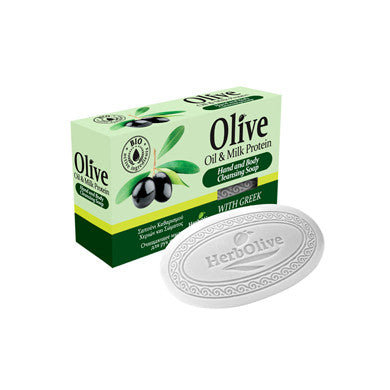 HerbOlive Bridge Soap with Olive Oil & Milk Protein 90gr/3.17oz, Soap, OnlyMySkin.com - OnlyMySkin.com