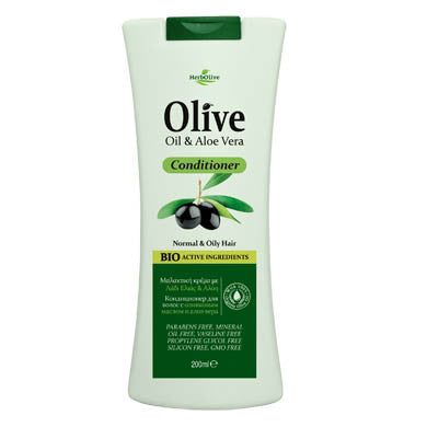 HerbOlive Hair Conditioner with Olive Oil & Aloe Vera 200ml/6.76fl.oz, Hair Care, OnlyMySkin.com - OnlyMySkin.com