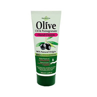 HerbOlive Hand Cream with Olive Oil & Pomegranate, Travel Size 100ml/3.34oz, Hand cream, OnlyMySkin.com - OnlyMySkin.com