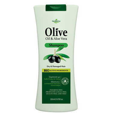 HerbOlive Hair Shampoo with Olive Oil & Aloe Vera 200ml/6.76oz, Hair Care, OnlyMySkin.com - OnlyMySkin.com
