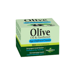 HerbOlive Face Cream, Age Defense Cream with Olive Oil & Panthenol 50ml / 1.69 oz, Face Cream, OnlyMySkin.com - OnlyMySkin.com