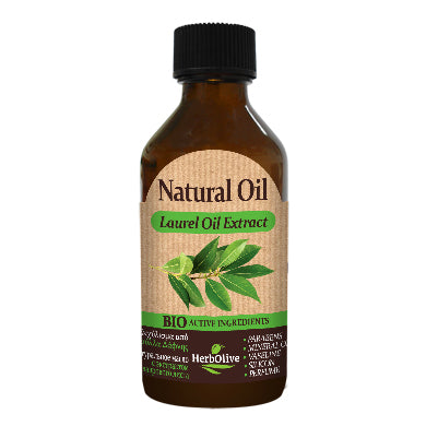 Natural Laurel Oil Extract 100ml by HerbOlive (free shipping), 100% Natural Oil - free shipping, HerbOlive - OnlyMySkin.com