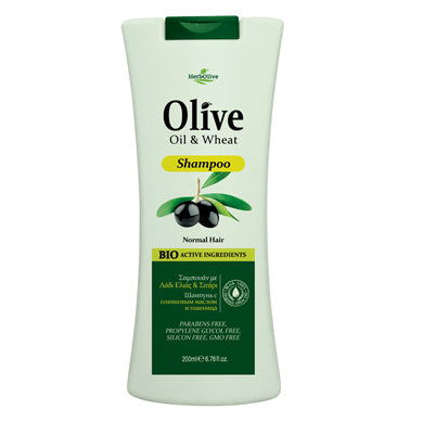 HerbOlive Hair Shampoo with Olive Oil & Wheat 200ml, Hair Care, OnlyMySkin.com - OnlyMySkin.com