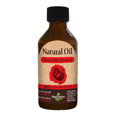 Natural Rose Oil Extract 100ml by HerbOlive (free shipping), 100% Natural Oil - free shipping, HerbOlive - OnlyMySkin.com