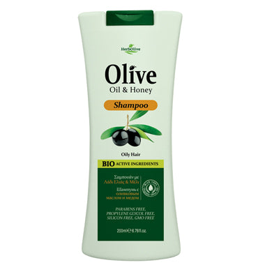 HerbOlive Hair Shampoo with Olive Oil & Honey 200ml, Hair Care, OnlyMySkin.com - OnlyMySkin.com