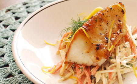 Chilean Sea Bass with Lemon, Honey & Thyme Vinaigrette
