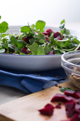 Beets watercress salad