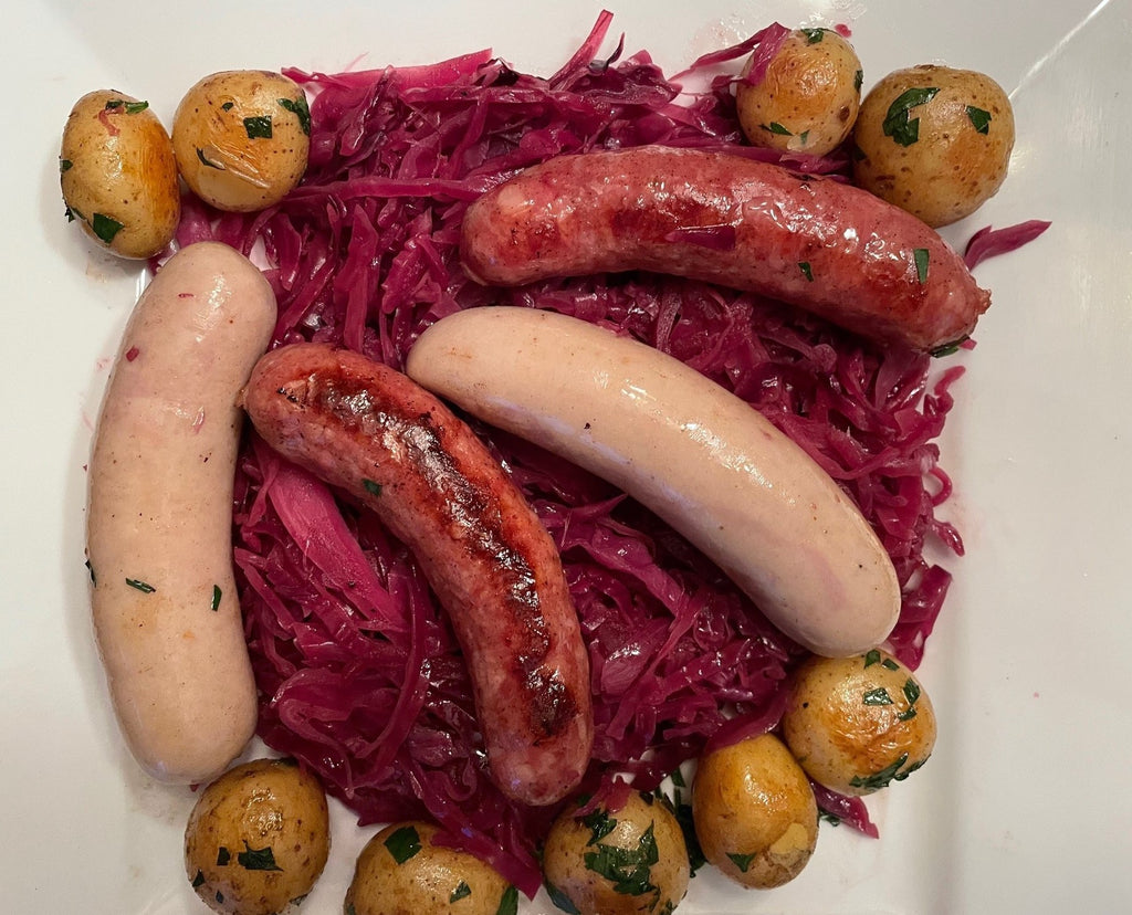Braised Red Cabbage with Onions and Apples