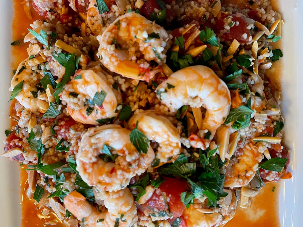 Mediterranean Couscous with Shrimp and Tomato