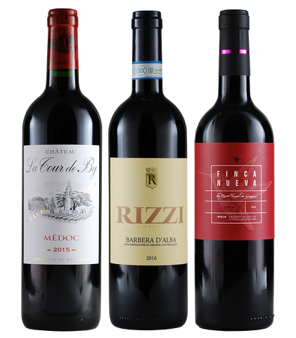 Classic Wine Lover Gift Pack: France, Italy, Spain