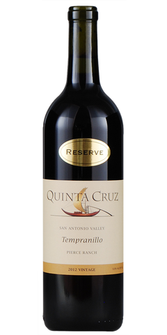Quinta Cruz Reserve San Antonio Valley Pierce Ranch Vineyards Tempranillo 2012