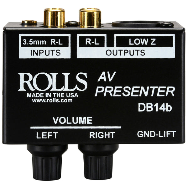 Rolls AV Presenter Stereo Patch DI