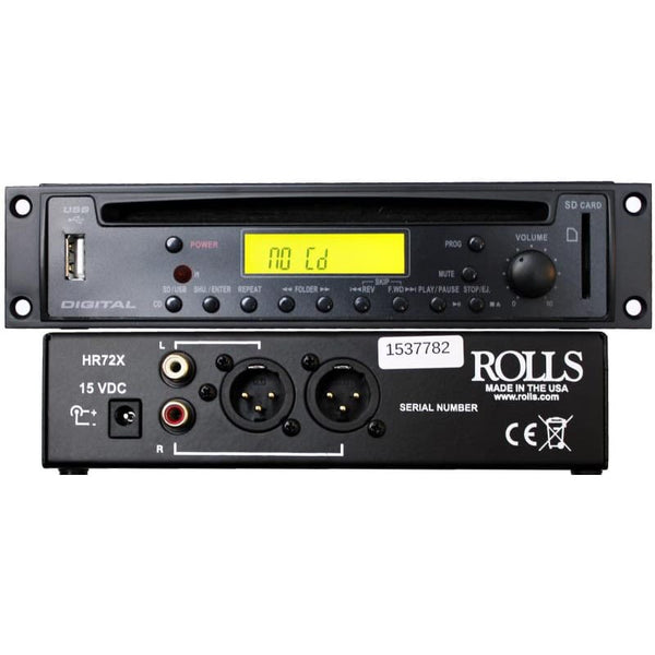 Rolls CD/MP3 Disc Player with XLR's