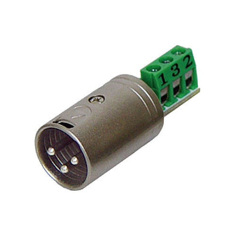 Rolls Bare Wire to Male XLR Connector