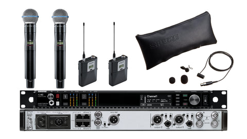 Shure AD4D Two-Channel Digital Wireless Receiver/Microphone Bundle