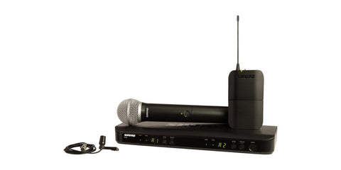 Shure BLX1288/CVL Dual-Channel Handheld & Lavalier Combo Wireless Mic System