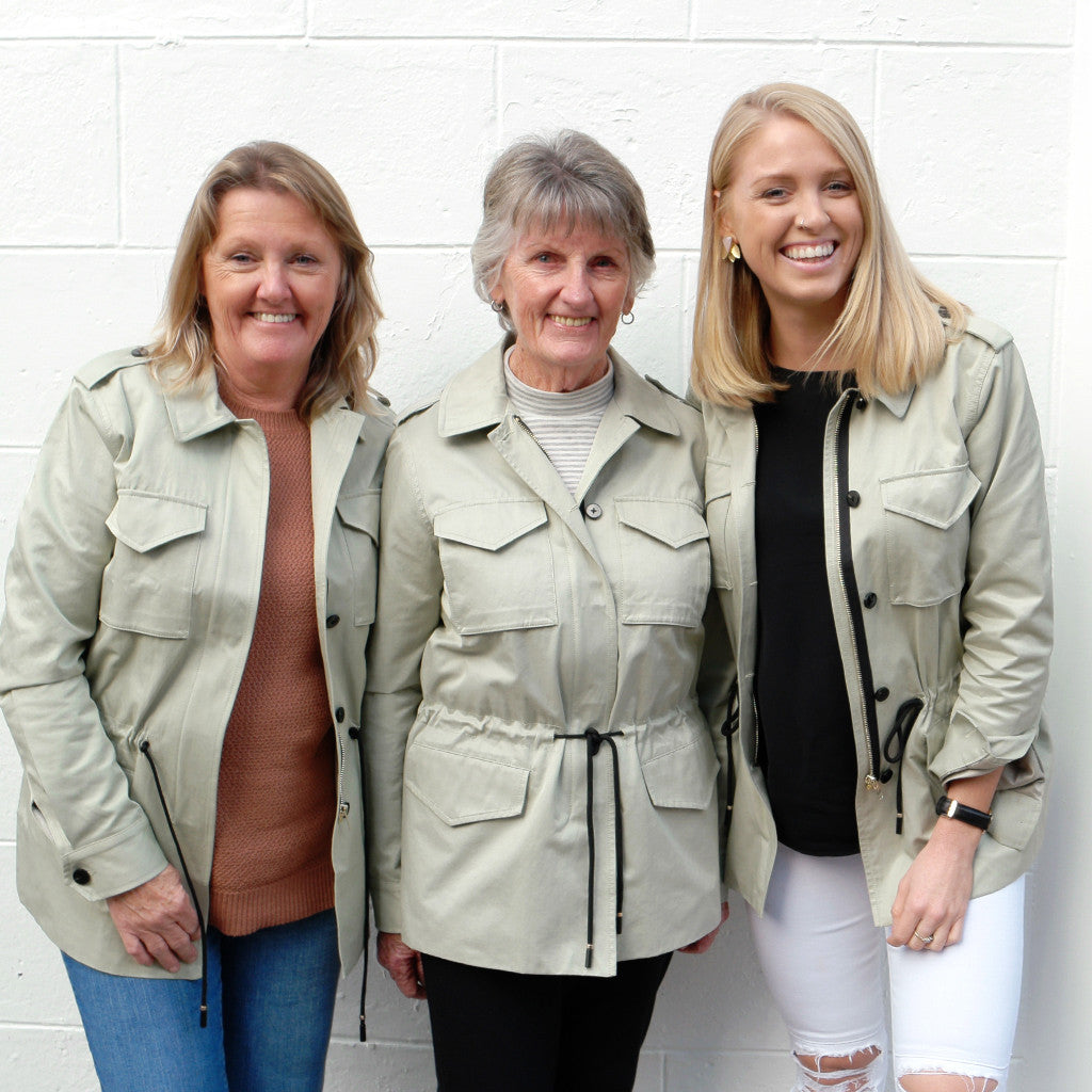 Three generations in the one jacket