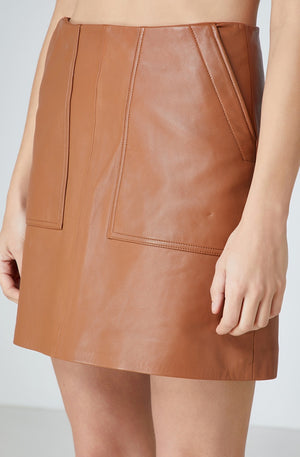 ELKA COLLECTIVE - Lucette Leather Skirt - Style on Point