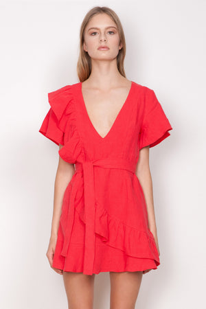 WISH - Entice Ruffle Dress
