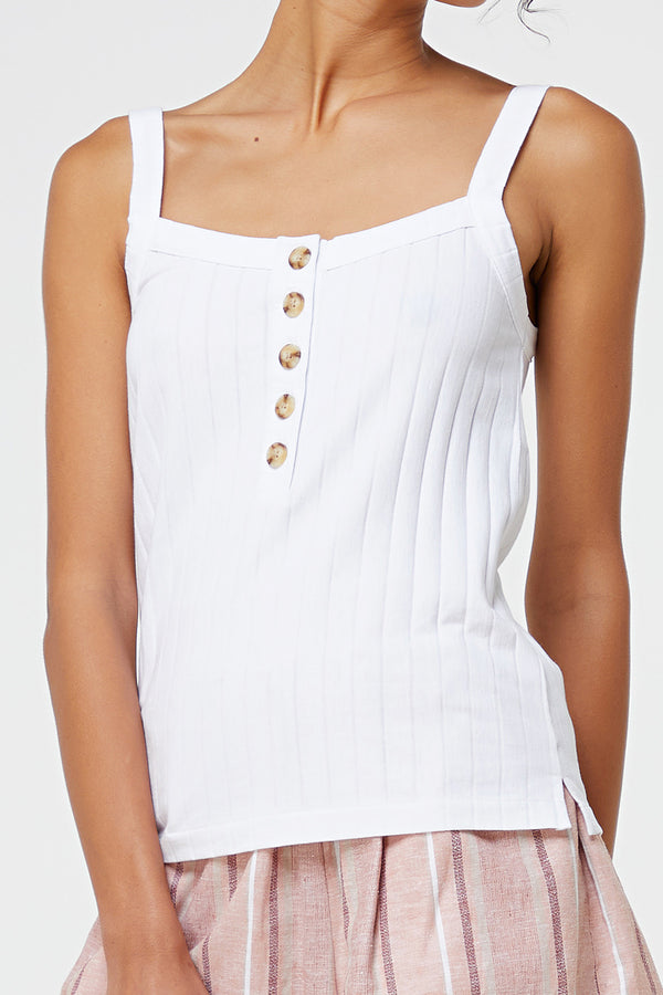 ELKA COLLECTIVE - Jula Tank White - Style on Point