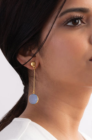 Moonshine Blue Earrings - Style on Point