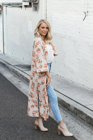 FLORAL SUNSETS KIMONO - Style on Point
