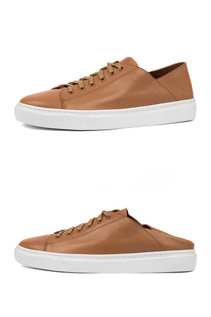 Oskher DK Tan Leather Sneaker - Style on Point