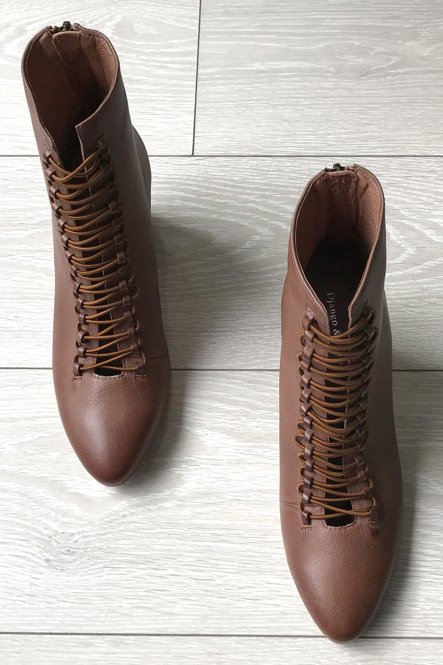 DJANGO & JULLIET -  Izorass Cognac Leather Boots - Style on Point