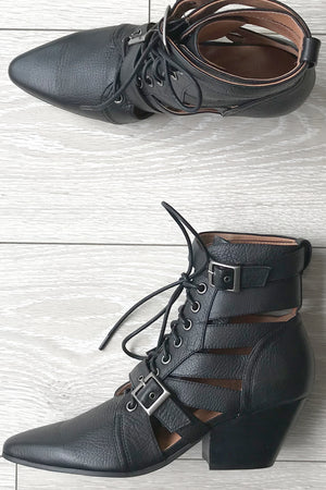 SILENT D - Felipe Black Leather Boots - Style on Point