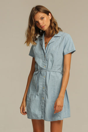 RUE STIIC - BILLY MINI DRESS LIGHT CHAMBRAY - Style on Point