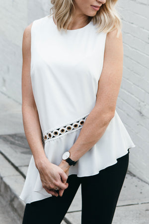 ELIZA BLOUSE IN WHITE - Style on Point