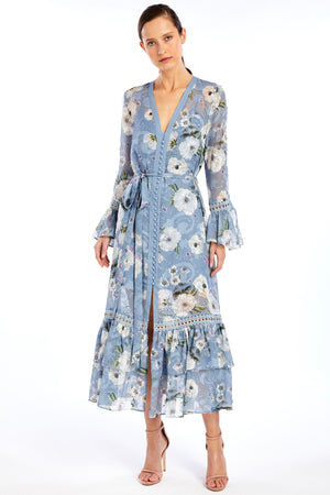 WE ARE KINDRED - Tabitha Shirt Dress Cornflowers