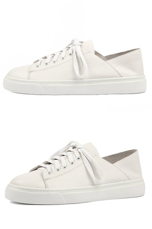 Oskher White Leather Sneaker - Style on Point