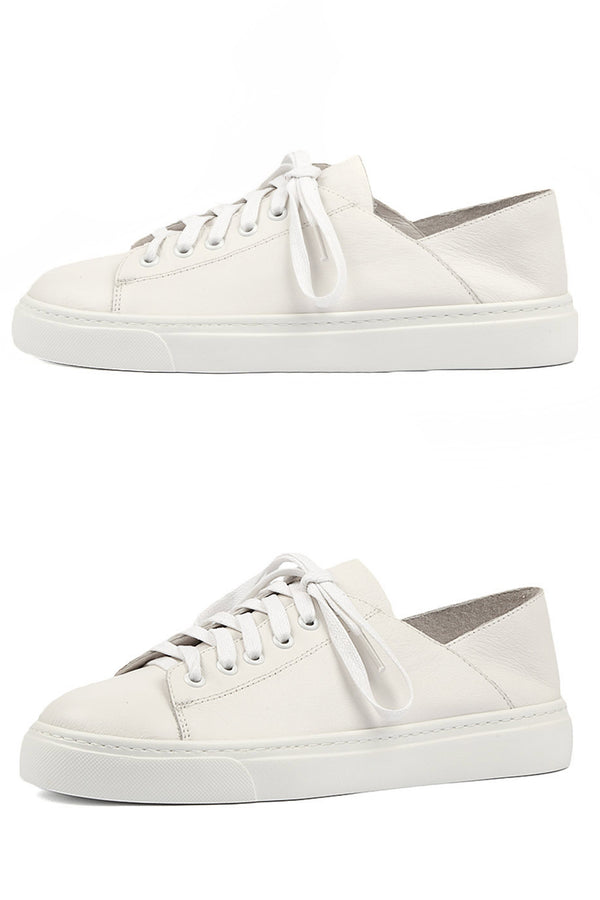 Oskher White Leather - Style on Point