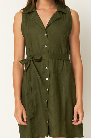 RUE STIIC - Cortez Mini Dress Green - Style on Point