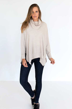 HUMIDITY - Roll Over Sweater in Natural - Style on Point