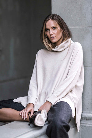 Roll Over Sweater in Natural - Style on Point